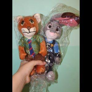 Judy Hopps AND Nick Wilde Disney Zootopia Plushes